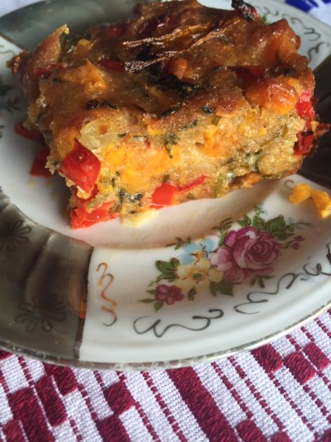 Tarta cu Cartofi Dulci si Flori de Dovlecel