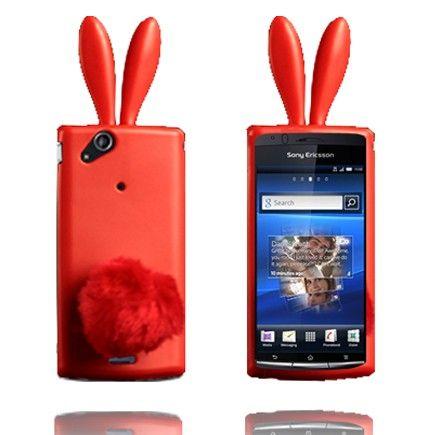 Bunny (Rød) Sony Ericsson Xperia Arc Cover