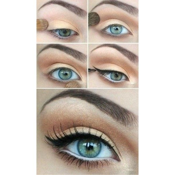 make-up for green eyes Beauty Tips, Fashion Trends and Styles ❤ liked on Polyvore