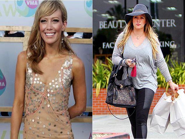 Bkz. hamilelik sonrası verilemeyen kilolar. (Hilary Duff)