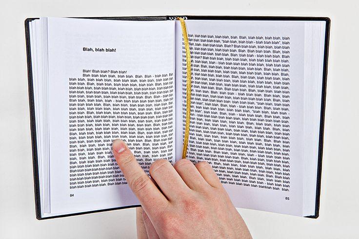 """""""Blah blah blah book,"""" Gogelmogel"""