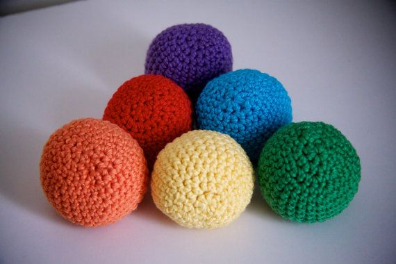 Baby Play Balls - Set of 6 - Colour Set on Etsy, $35.00 AUD