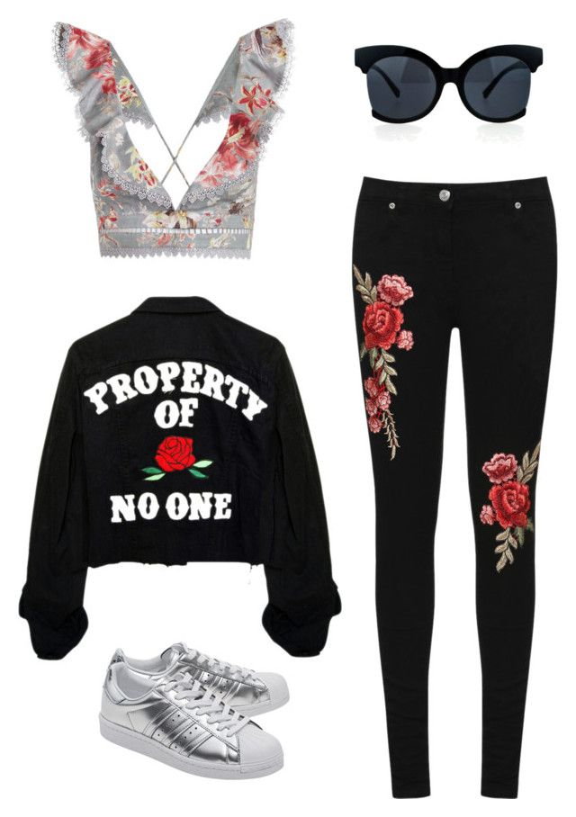 merve 2 by ilaydaozer on Polyvore featuring moda, Zimmermann, WearAll and adidas Originals