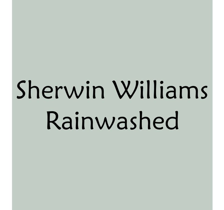 Blue Green Gray Paint Colors, Rainwashed by Sherwin Williams  BonnieProjects: Choosing Paint Colors