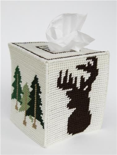 Everything Plastic Canvas - Deer Silhouette Tissue Topper