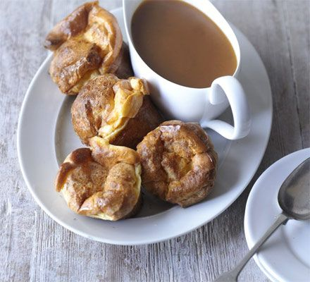 Perfect for mopping up gravy, these soft but crisp Yorkshire puddings will rise every time thanks to a great batter