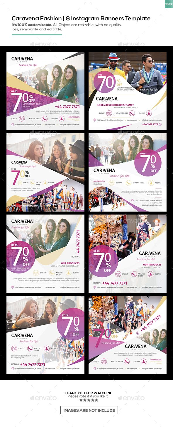 Caravena Fashion | Instagram Banners Template by wutip2 | GraphicRiver