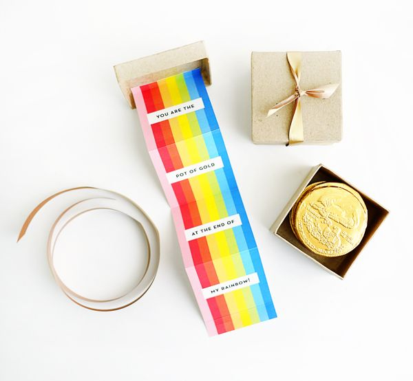 Printable Pot o' Gold Rainbow Box | Oh Happy Day!
