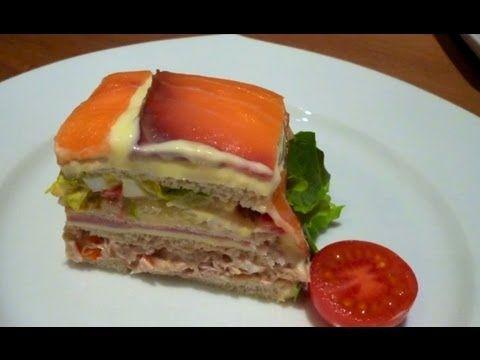 Tarta salada vegetal con pan de molde - Especial día del padre. Recipes, Recetas, Food, Cocina, Gastronomía...