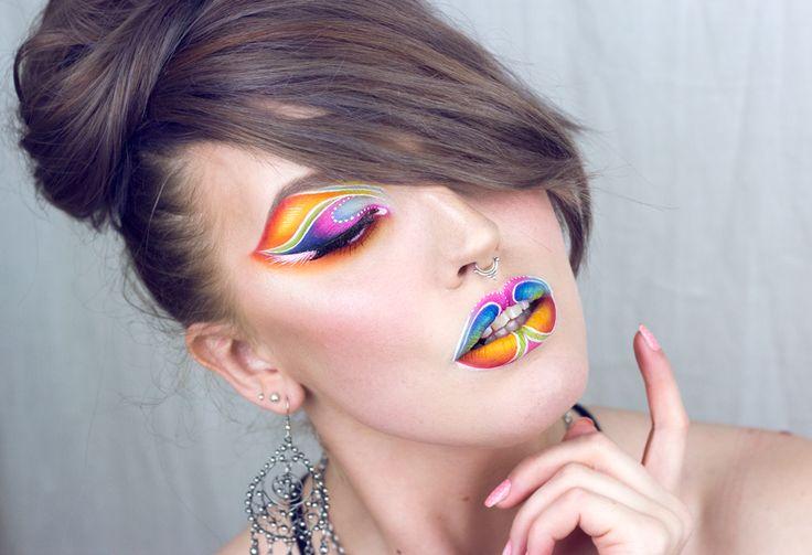 creative make-up by Sandra Holmbom
