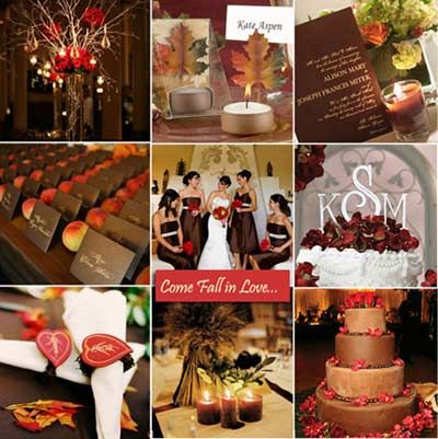 Red Brown Wedding Color Theme 86 The Leaves
