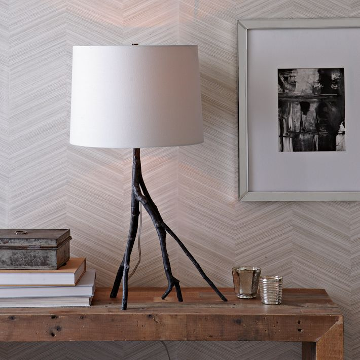 Similar to chevron, this herringbone textural print resembles carefully laid tiles. The wallpaper is from Seabrook and is part of their Dimensions collection. It is available in six colors —view all the options and get the details at Seabrook | SBK14022.    The Seabrook wallpaper is also available for purchase from WallpapersToGo.com as item number WTG-049786.