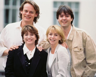 Men Behaving Badly was a British comedy that was created and written by Simon Nye. It followed the lives of Gary Strang (Martin Clunes) and his flatmate, Tony Smart (Neil Morrissey). In the first series Harry Enfield appeared as flatmate Dermot Povey. Caroline Quentin) and Leslie Ash also starred.