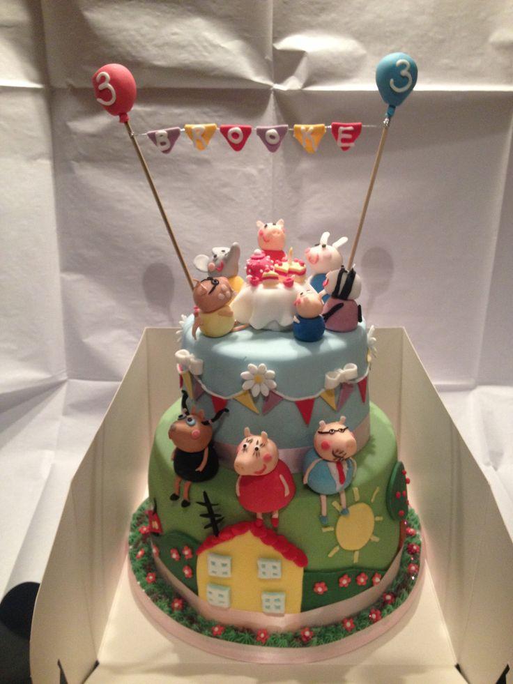 Peppa pig cake - www.thecakebakehousecompany.co.uk