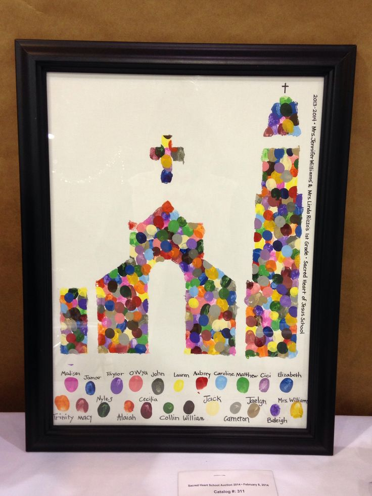 Class auction item- thumb prints of church silhouette