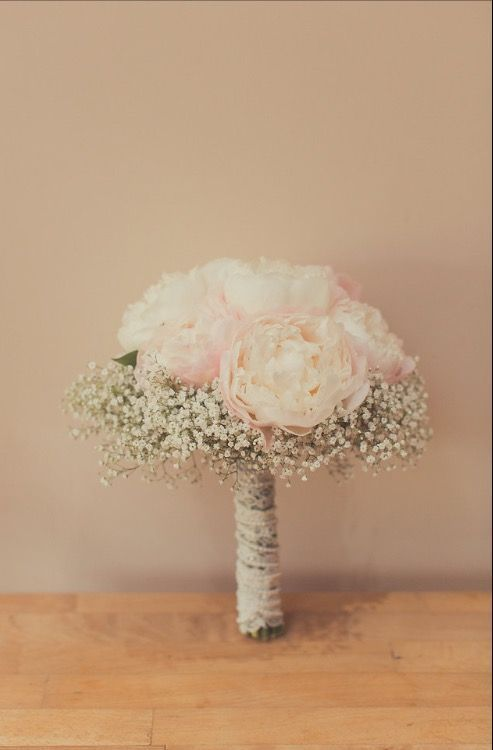 Peony and gyp wedding bouquet