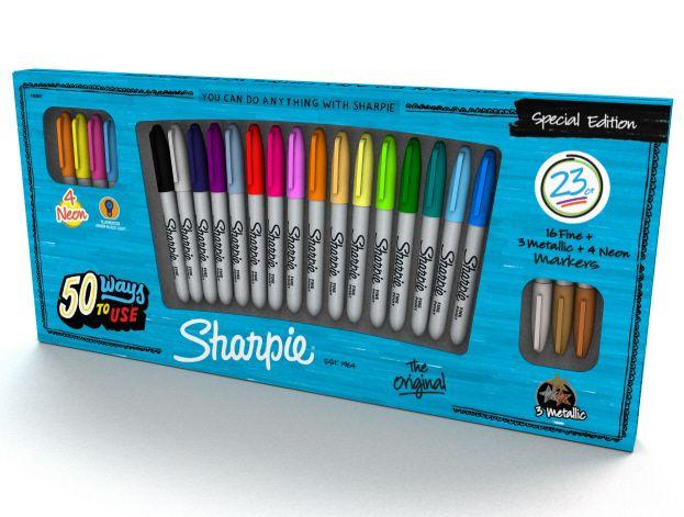 Sharpie Fine Markers, K�mpe sortiment 23 stk. Diverse farver 149 kr
