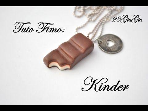 Tuto Fimo : Barre au chocolat Kinder