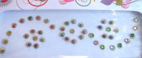 42 Designer Bollywood bridal Bindi /crystal stone by CraftyJaipur
