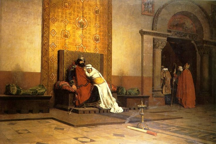 Jean-Paul Laurens - Excommunication of Robert the Pious in 998, 1875