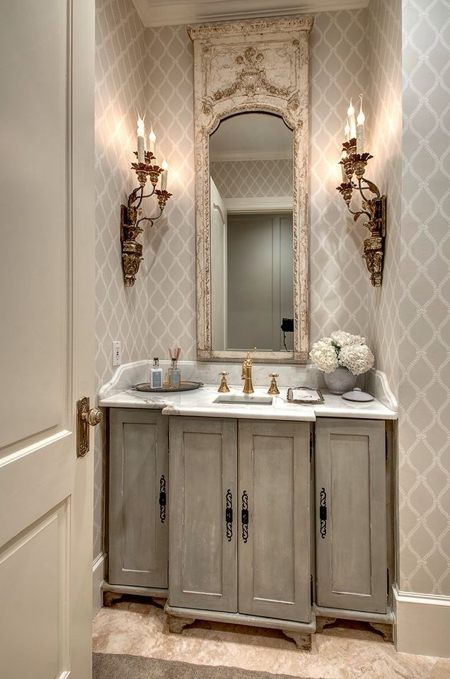 Pretty small bath powder room paint finishes by Pretty powder room ideas