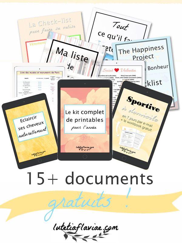 Plus de 15 documents gratuits sont disponibles dans ma Bibliothèque privée ! Cliquez pour vous abonner et obtenir mon kit de printables pour l'année ou mon mini ebook pour éclaircir ses cheveux naturellement et plus encore sur lutetiaflaviae.com !