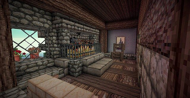Medieval Mansion minecraft building ideas 18