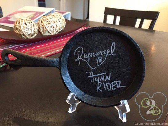 11 Creative Items To Have Disney Characters Sign - OMG IT'S A FRYING PAN SIGNED BY FLYNN AND RAPUNZEL!
