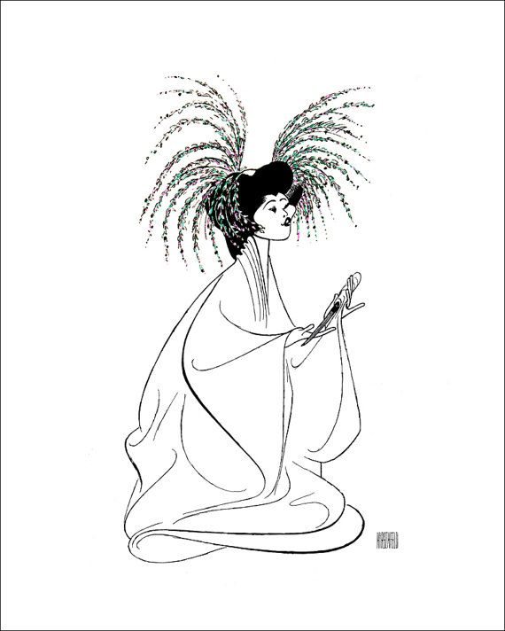 B.D. WONG, Hand Signed by Al Hirschfeld, M. BUTTERFLY, Limited Edition
