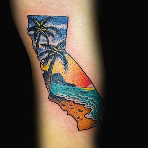100 California Tattoo Designs For Men: 25+ Best Ideas About California Tattoos On Pinterest