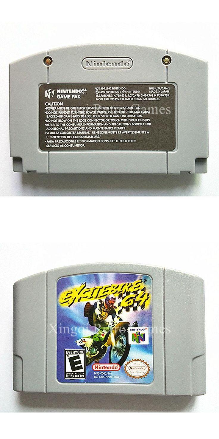 Nintendo N64 Game Excitebike 64 Video Game Cartridge Console Card English Language US Version