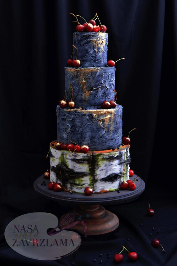 Rustic Wedding Cake by Nasa Mala Zavrzlama - http://cakesdecor.com/cakes/284645-rustic-wedding-cake