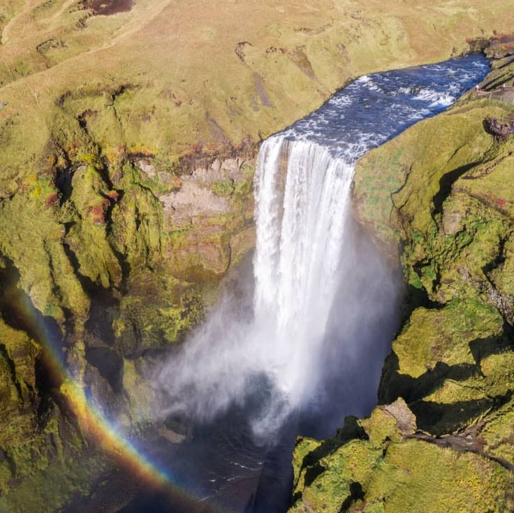 I used to live in the darkness  Dress in black act so heartless  But now I see that colors are everything. -Kesha       #icelandic #iceland #icelandtravel #icelandichorse #drone #unlimitediceland #waterfallsfordays #waterfalls #waterfallwednesday #dronestagram #dronenerds #droneoftheday #droneheros #dronesdaily #visualoflife #fromwhereidrone #dronepointofview #droneporn #photoigfam (at Skógafoss)