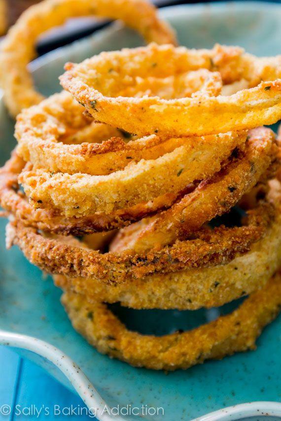 Week 14 Tailgating Ideas - Crispy Baked Onion Rings http://livedan330.com/2014/12/05/week-15-tailgating-ideas/