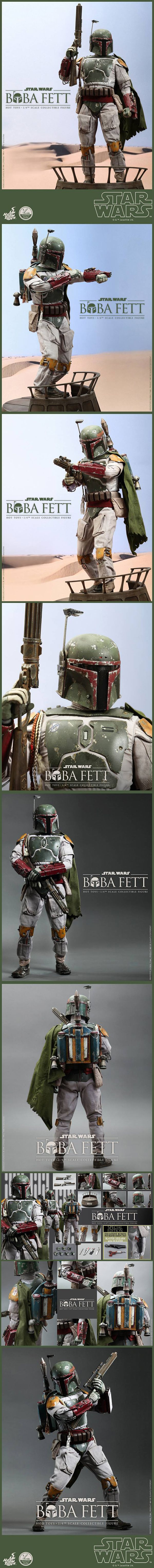 Hot Toys' New Quarter Scale Boba Fett Figure Is Worth All The Bounties One of their newest collectibles is a quarter scale Episode VI Boba Fett. This collectible figure is insanely detailed. See Here: http://nerdapproved.com/toys/hot-toys-new-quarter-scale-boba-fett-figure-is-worth-all-the-bounties/ #starwars
