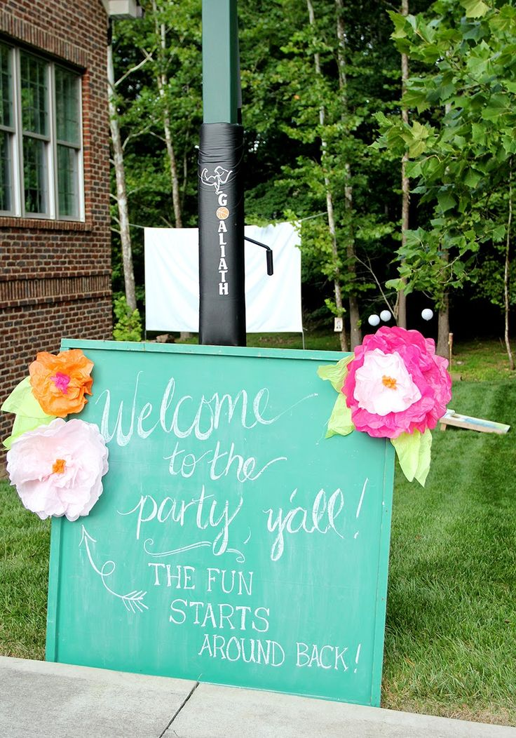 Less-Than-Perfect Life of Bliss: Abby's Sweet 16 Outdoor Movie Party