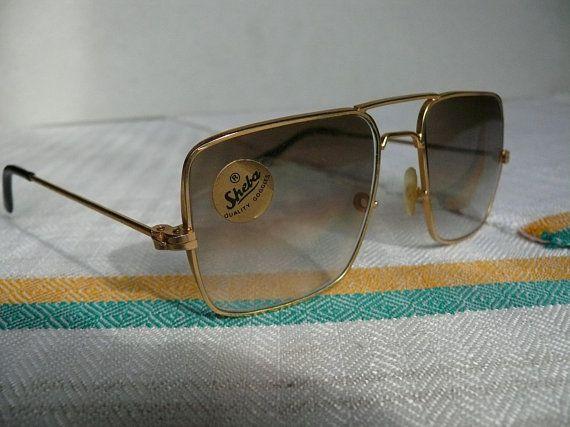 Gold Sunglasses For Men Vintage Eyewear Wire Frame Glasses Square Sunglasses Retro Sunglasses Vintag Vintage Sunglasses Retro Gold Sunglasses Vintage Glasses