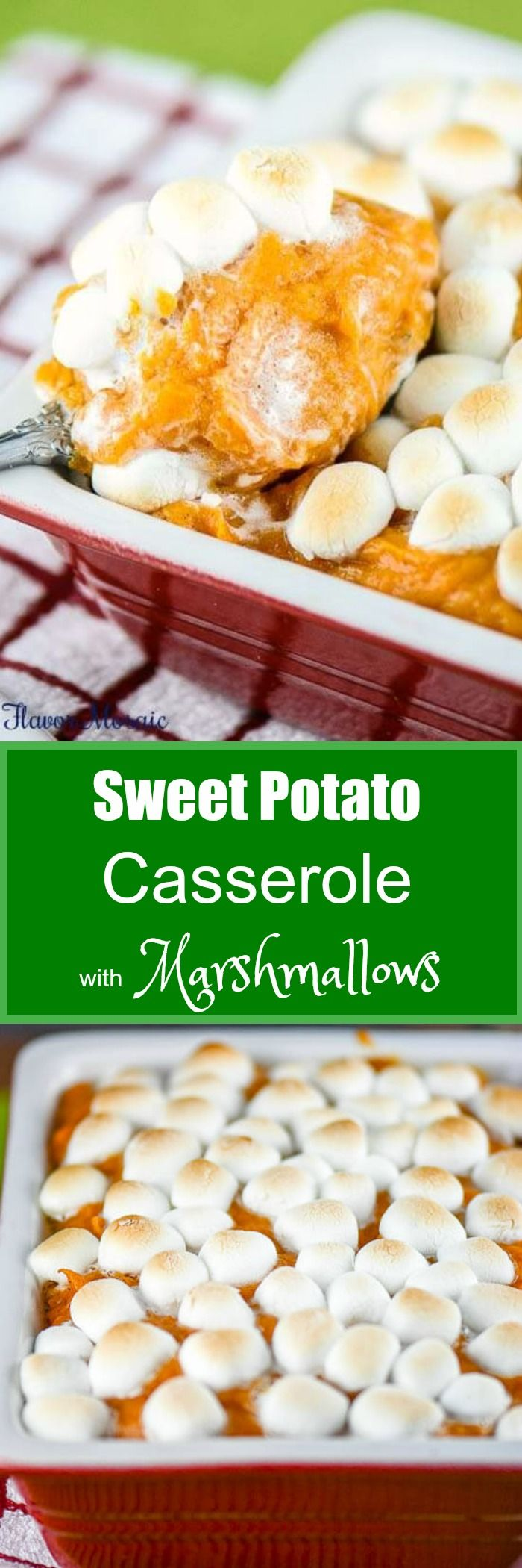 This Sweet Potato Casserole with Marshmallows has been a traditional Thanksgiving side dish in our family for as long as I can remember.