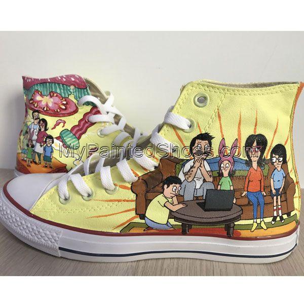 Bob's Burgers Chuck Taylors Sneakers Hi Tops Customised