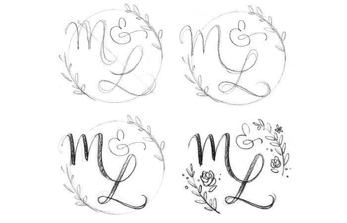 Monogramm Hochzeit