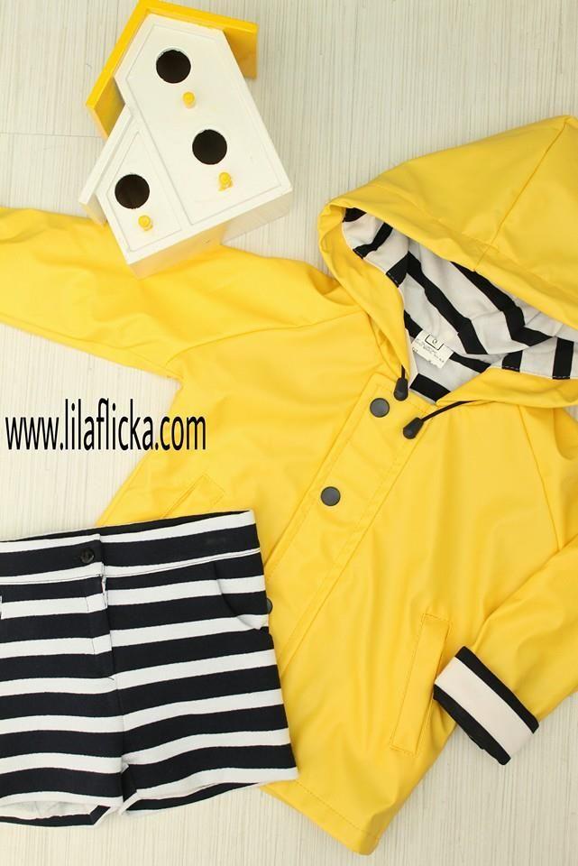 lo último Tener cuidado de gran venta Chubasquero niño unisex marinero en amarillo y forro de ...