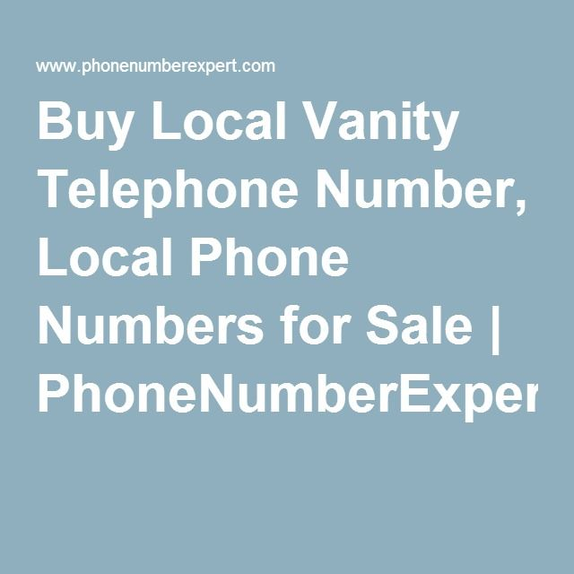 Buy local telephone numbers at Phonenumberexpert.com - most trusted providers of vanity number marketing services. Create a lasting impression on your customers and allow them to easily remember your number. Companies from sole proprietors to Fortune 1000 have put their trust on us. Give us a call or drop us a line for special requests now. Visit: http://www.phonenumberexpert.com/local-numbers