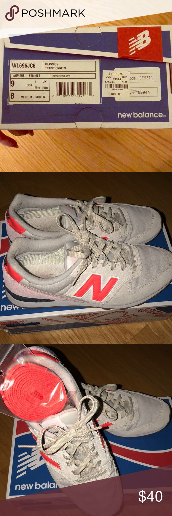 New Balance classics from J. CREW Size 9 New Balance shoes from J.CREW. Sold out when they were in the store. Only worn a handful of times. In great shape. Comfortable and cute! New Balance Shoes Sneakers
