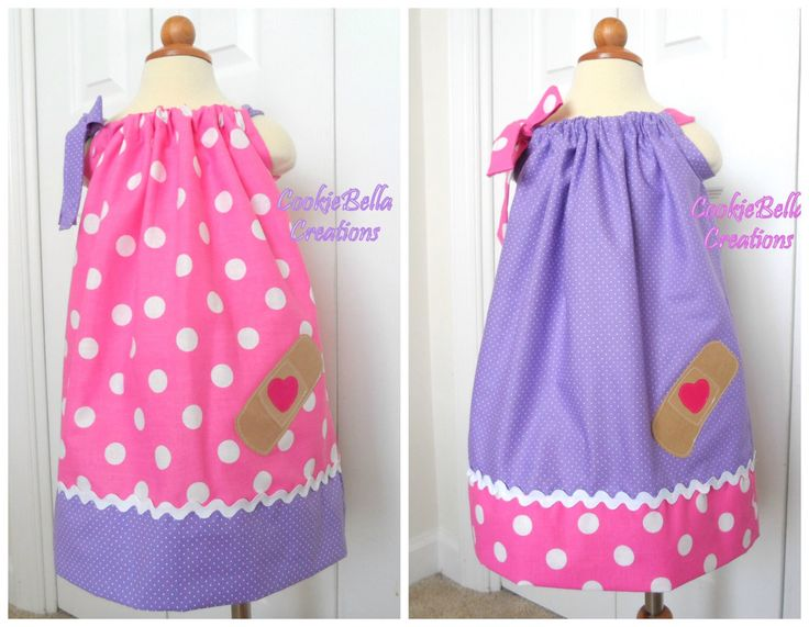 Big Little Sister Dresses, Sibling Outfits, Twin Set - Two Doc McStuffins Inspired Pink/Purple Polka Dot Pillowcase Dresses by CookieBellaCreations on Etsy https://www.etsy.com/listing/236795086/big-little-sister-dresses-sibling