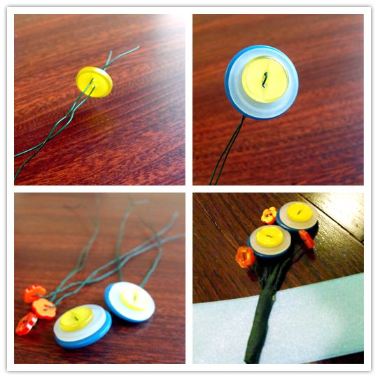 DIY button boutonniere: Diy Buttons, Buttons Flowers, Buttons Boutonnieres Buttons, Buttons Boutonnièr, Boutonnieres Buttons Hole, Buttons Boutonni Buttons, Flowers Ideas, Diy Boards, Boutonni Buttons Hole