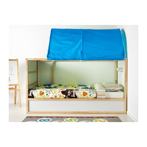 "KURA Reversible bed, white, pine Twin white/pine. It's 78.5"" long! 7'!"