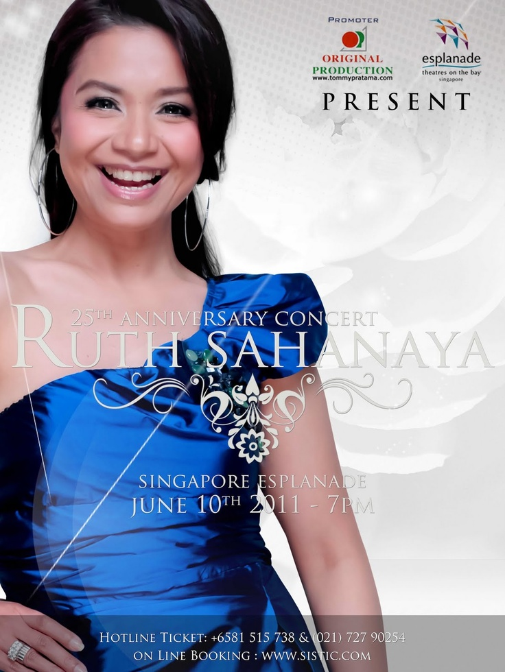 """Ruth Sahanaya (born 1 September 1966 in Bandung, West Java) is an Indonesian singer. She rose to fame in the late 1980s and is perhaps best known for her hit song """"Kaulah Segalanya"""".[1] She has toured internationally, been the Indonesian representative at many music festivals, and has received multiple awards.From Wikipedia, the free encyclopedia"""