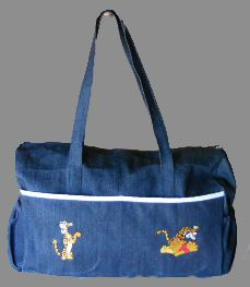 Baby bag with pooh embroidery designs