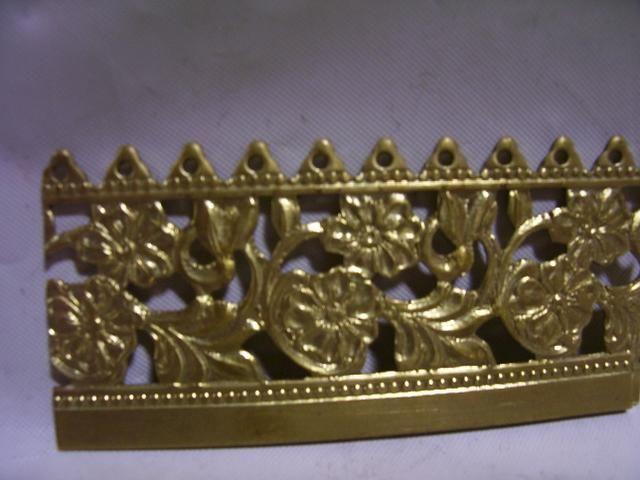 """1-1/4"""" pierced edge brass banding SL24652 brass banding $5.25 ft"""