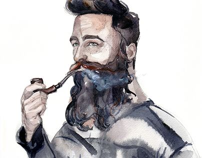 """Check out new work on my @Behance portfolio: """"The watercolor portraits of bearded men drawn for regis"""" http://be.net/gallery/50471813/The-watercolor-portraits-of-bearded-men-drawn-for-regis"""
